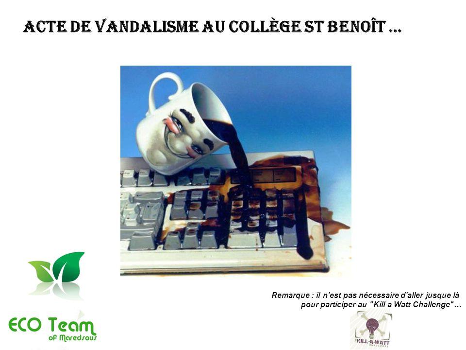 Acte de vandalisme au collège St Benoît …
