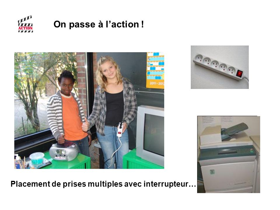 On passe à l'action ! Placement de prises multiples avec interrupteur…