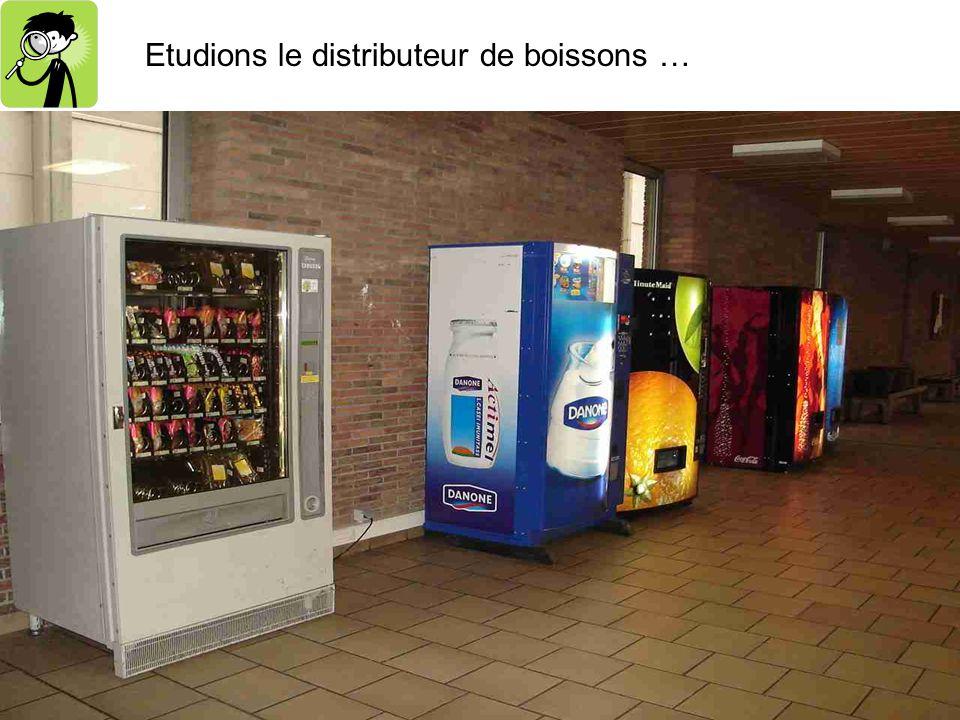 Etudions le distributeur de boissons …