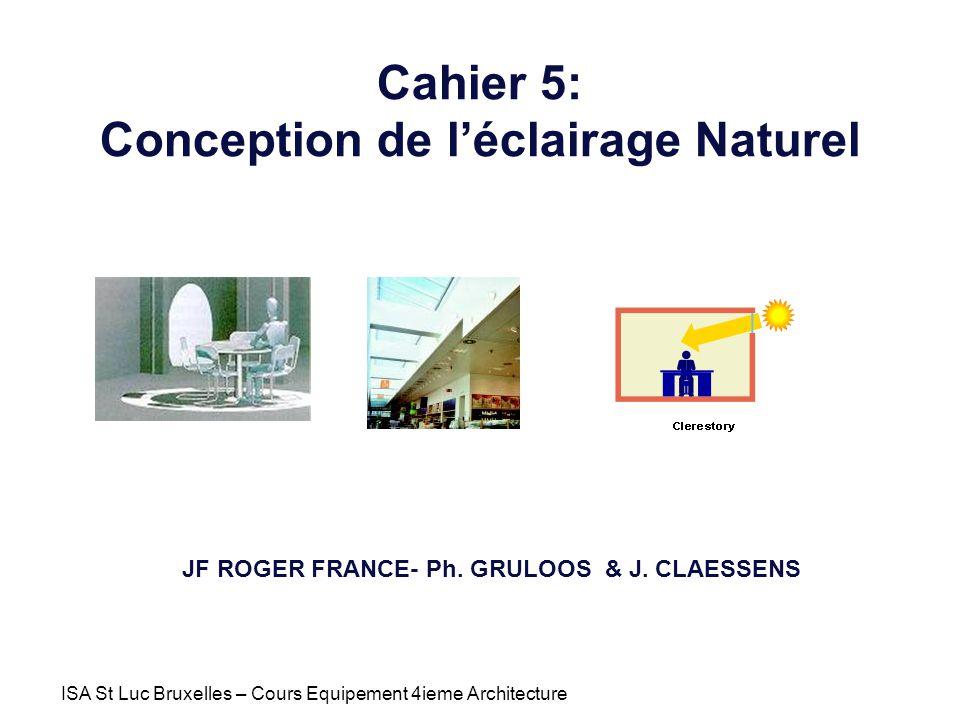 Cahier 5: Conception de l'éclairage Naturel