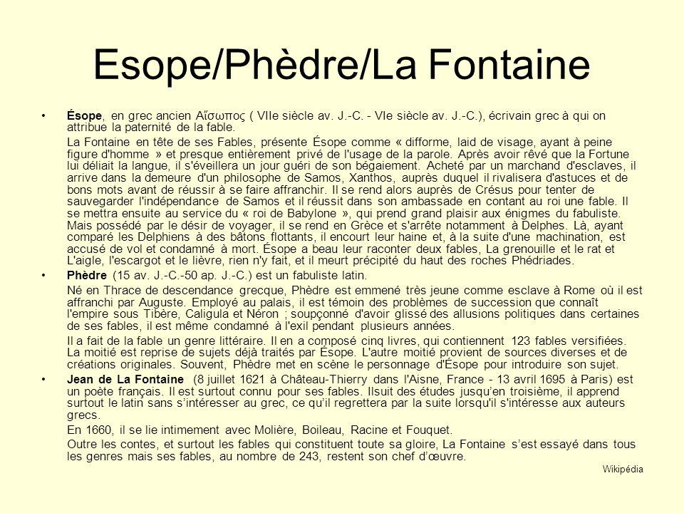 Esope/Phèdre/La Fontaine