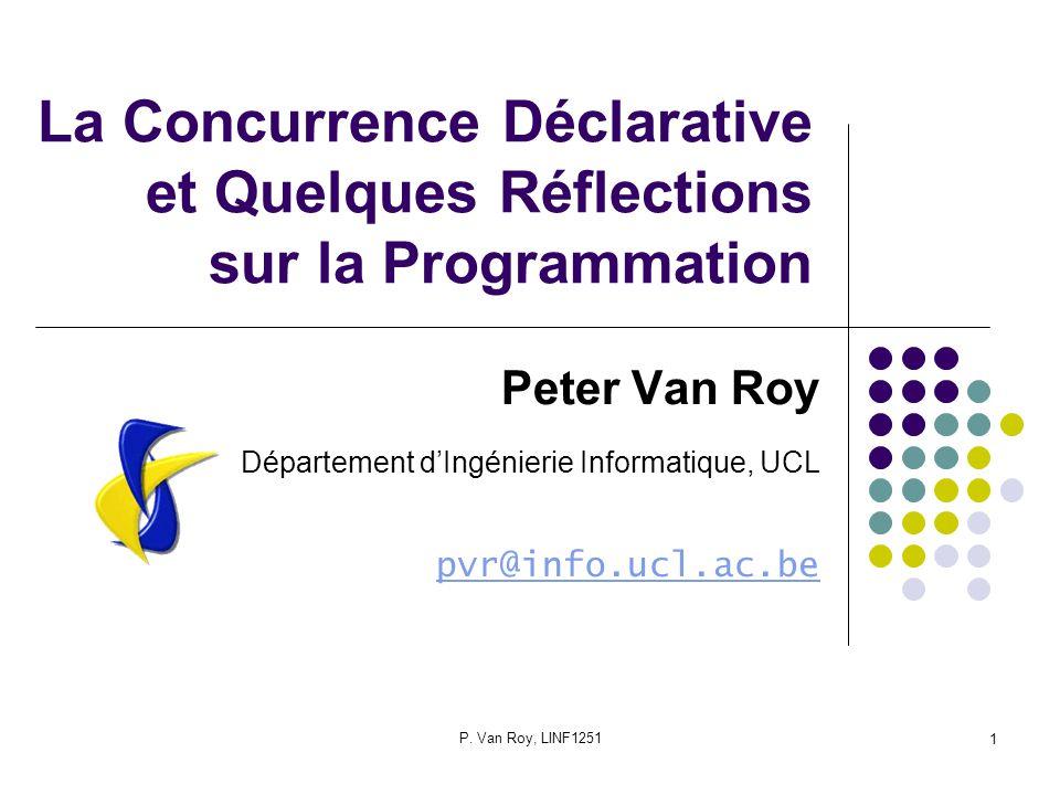La Concurrence Déclarative et Quelques Réflections sur la Programmation
