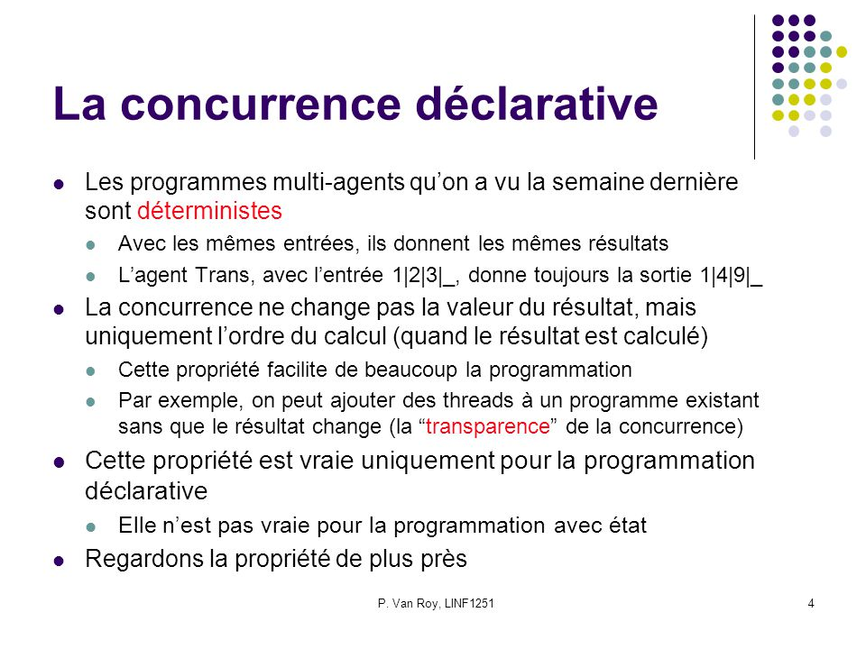 La concurrence déclarative