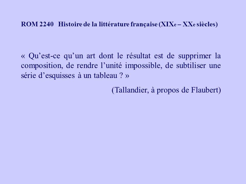 (Tallandier, à propos de Flaubert)