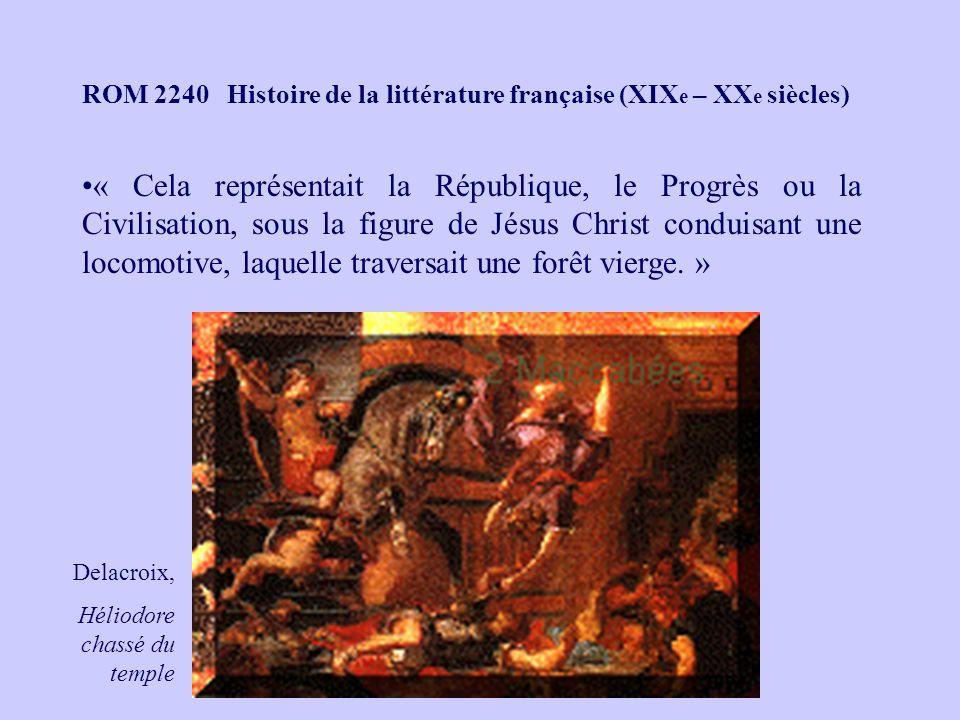 ROM 2240 Histoire de la littérature française (XIXe – XXe siècles)