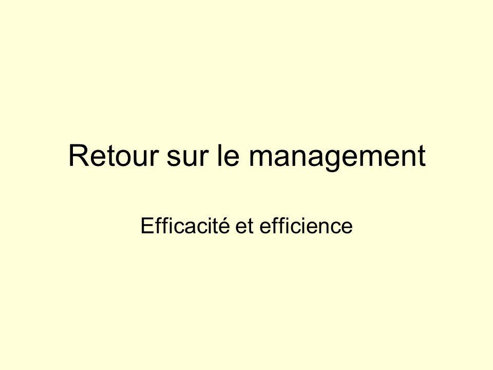 Retour sur le management