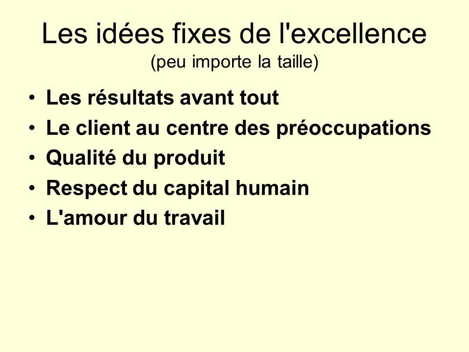 Les idées fixes de l excellence (peu importe la taille)
