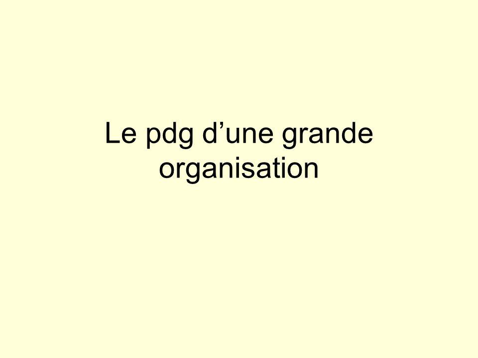 Le pdg d'une grande organisation