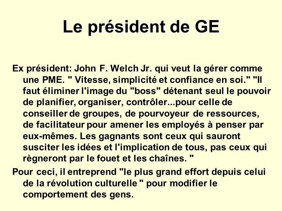 Le président de GE