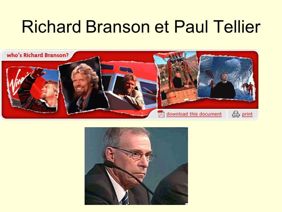 Richard Branson et Paul Tellier