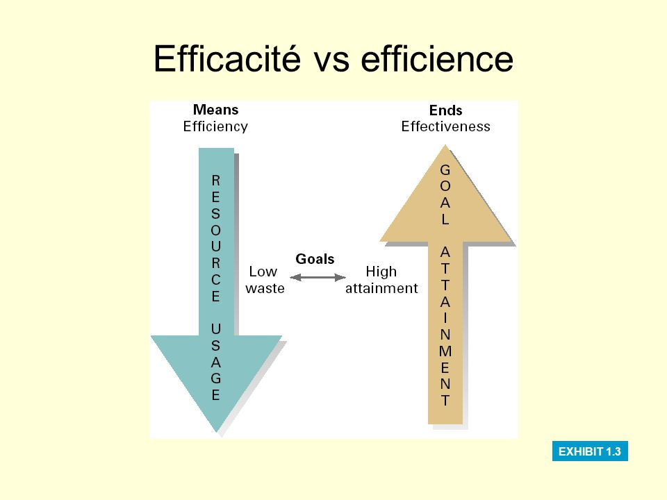 Efficacité vs efficience