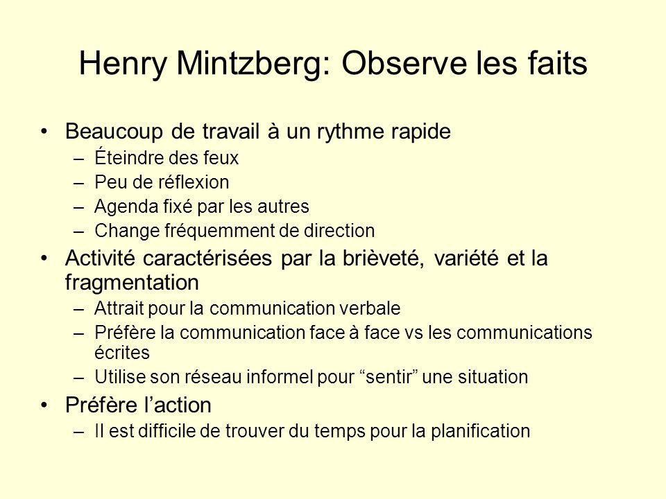 Henry Mintzberg: Observe les faits