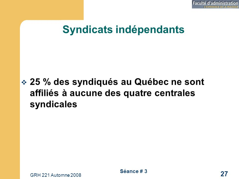Syndicats indépendants