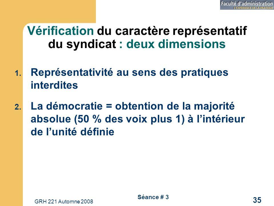 Vérification du caractère représentatif du syndicat : deux dimensions