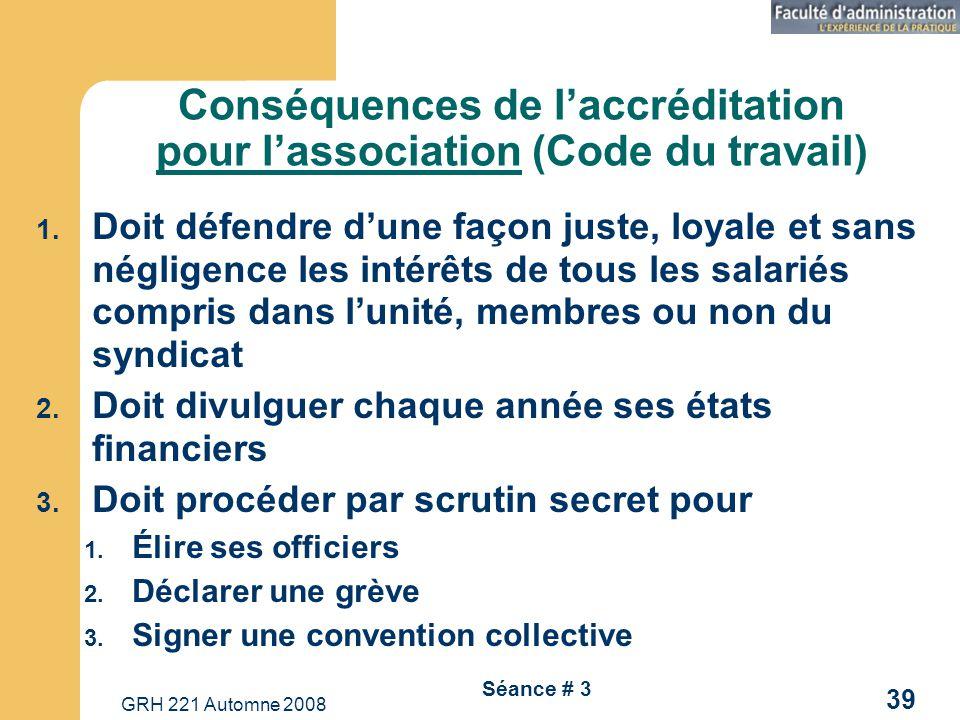 Conséquences de l'accréditation pour l'association (Code du travail)