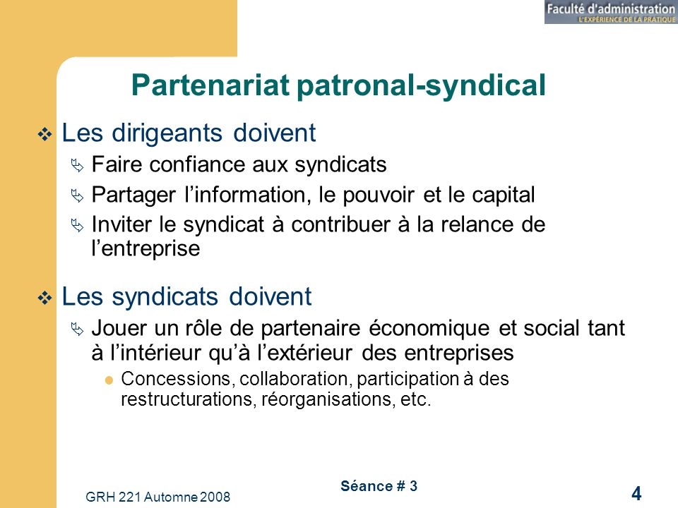 Partenariat patronal-syndical