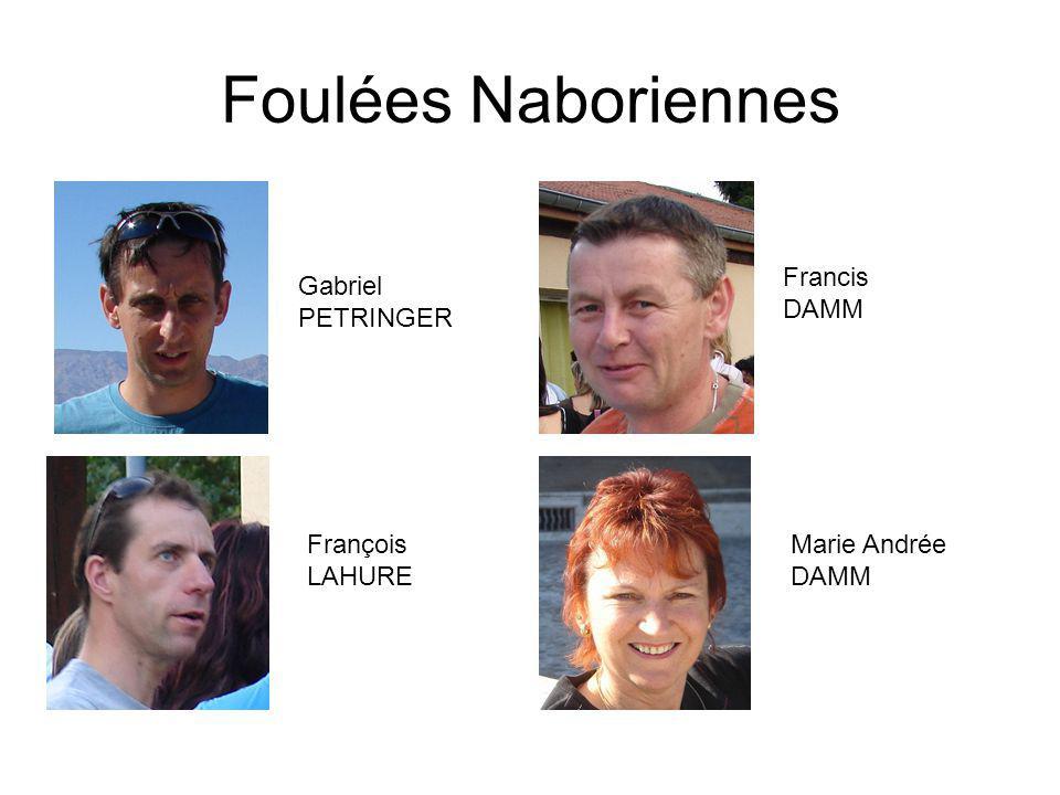 Foulées Naboriennes Francis DAMM Gabriel PETRINGER François LAHURE