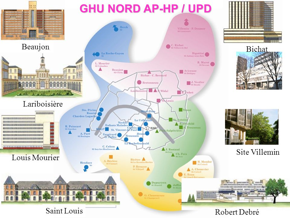 GHU NORD AP-HP / UPD Beaujon Bichat Lariboisière Site Villemin