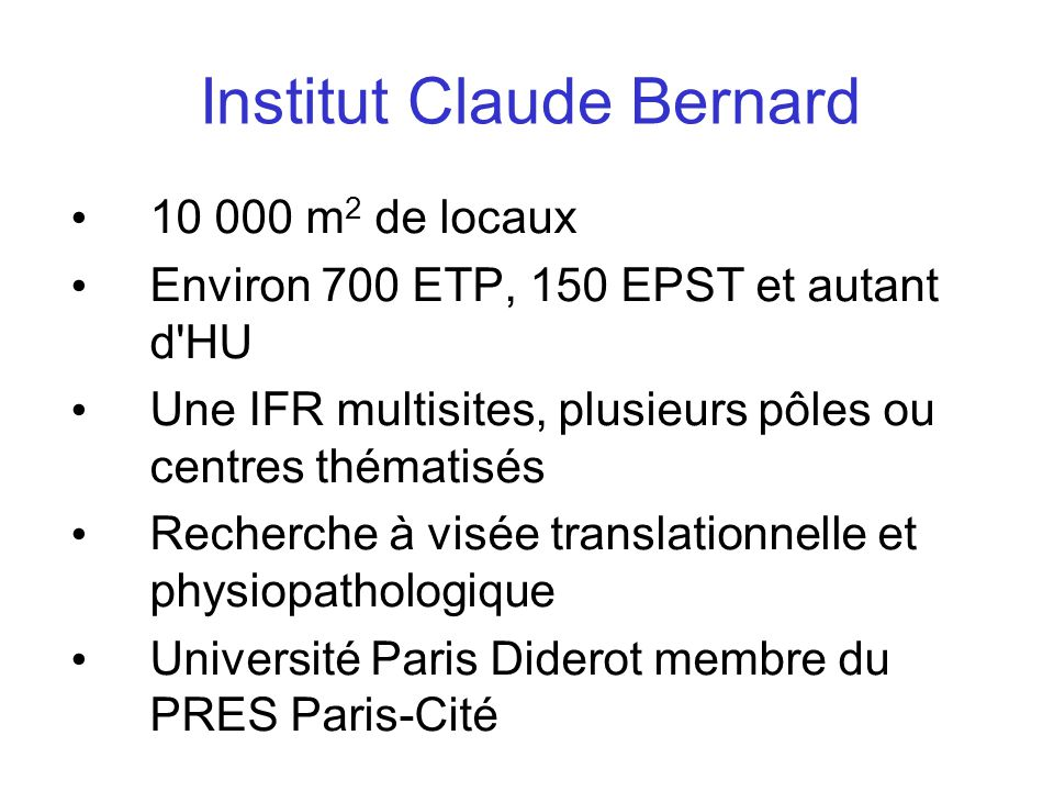 Institut Claude Bernard