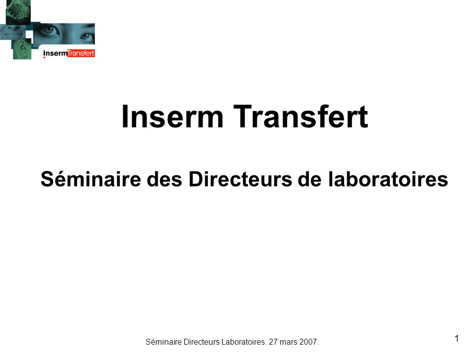 Séminaire des Directeurs de laboratoires