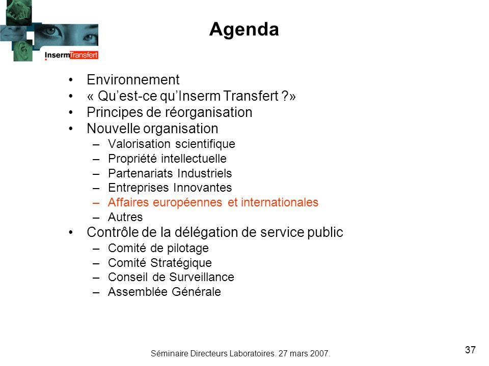 Agenda Environnement « Qu'est-ce qu'Inserm Transfert »