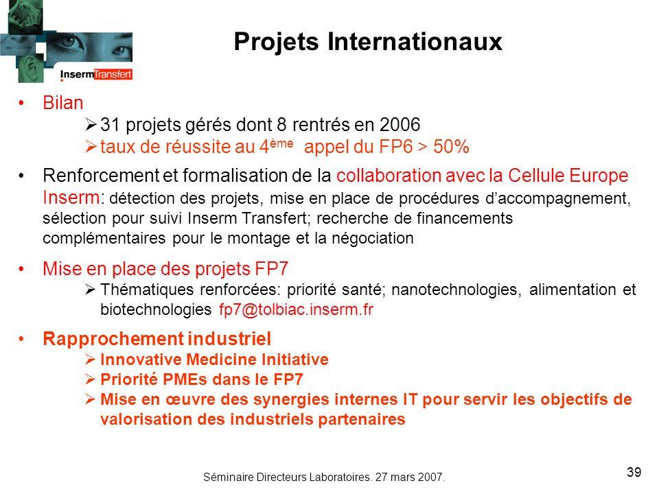 Projets Internationaux