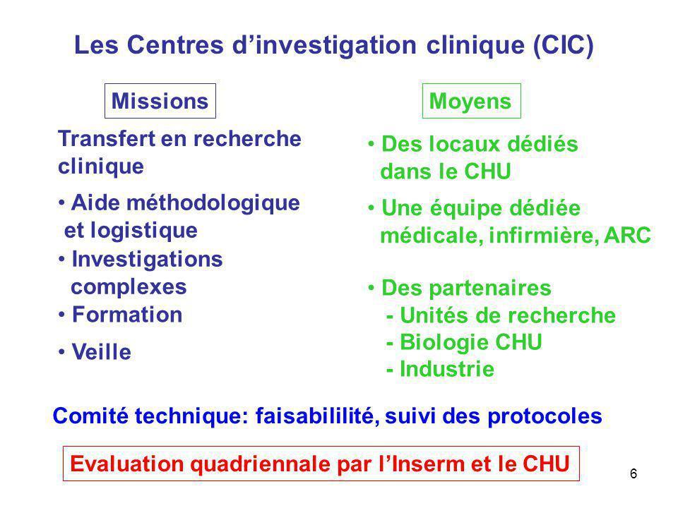 Les Centres d'investigation clinique (CIC)
