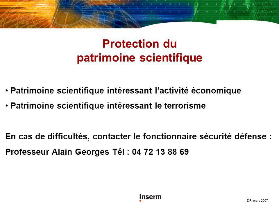 Protection du patrimoine scientifique