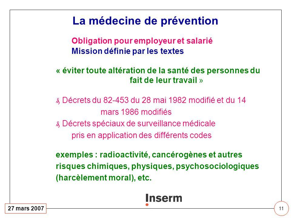 La médecine de prévention