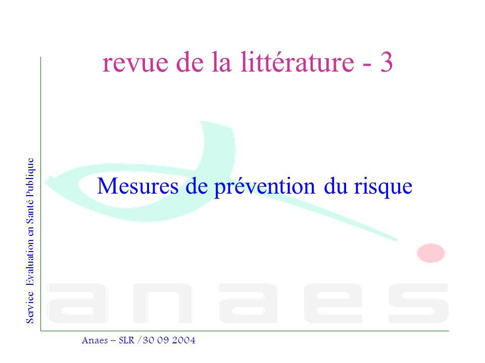 revue de la littérature - 3