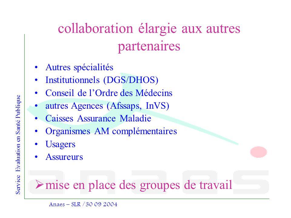 collaboration élargie aux autres partenaires