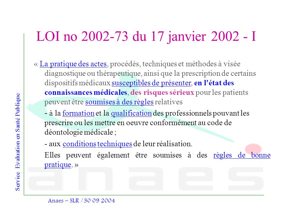 LOI no 2002-73 du 17 janvier 2002 - I