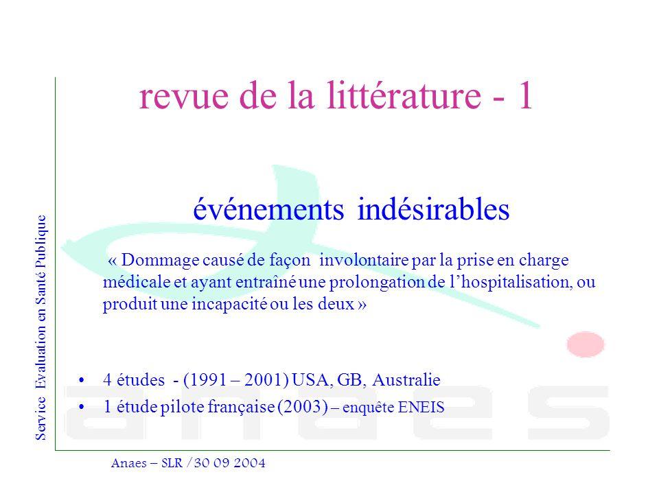 revue de la littérature - 1
