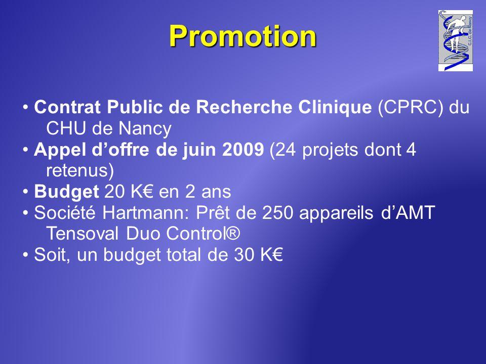 Promotion Contrat Public de Recherche Clinique (CPRC) du CHU de Nancy