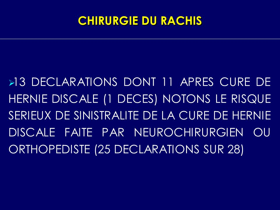 CHIRURGIE DU RACHIS