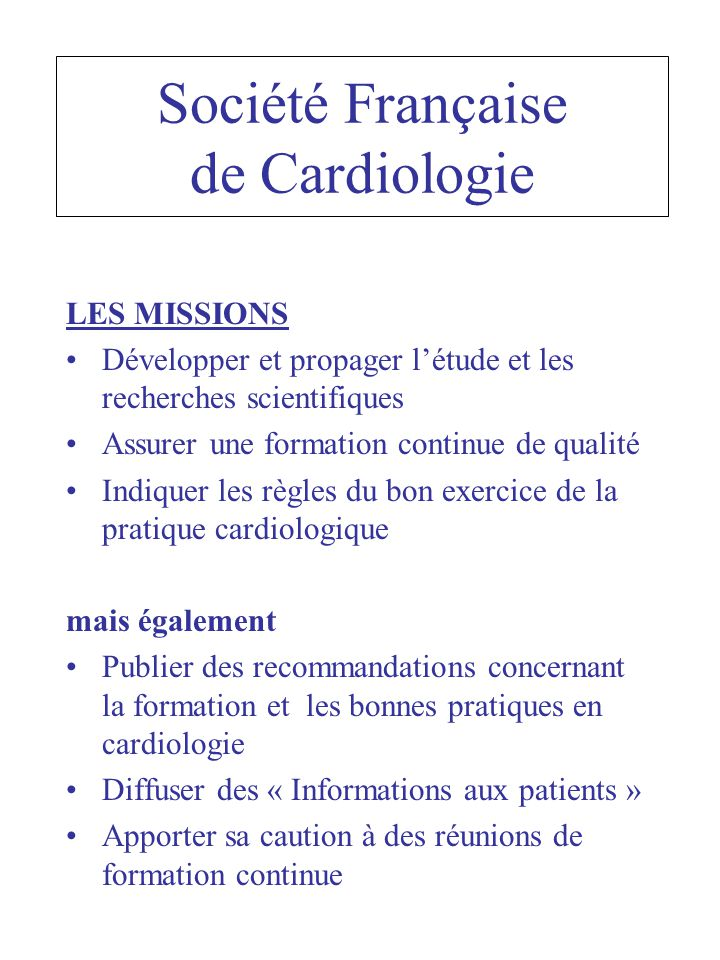Société Française de Cardiologie
