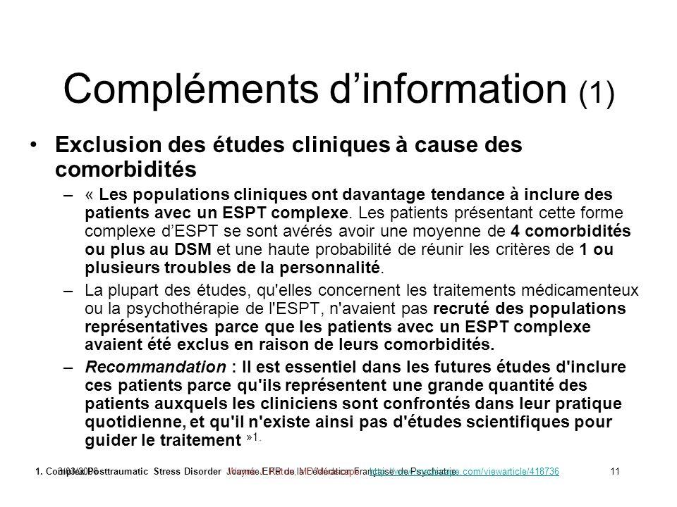 Compléments d'information (1)