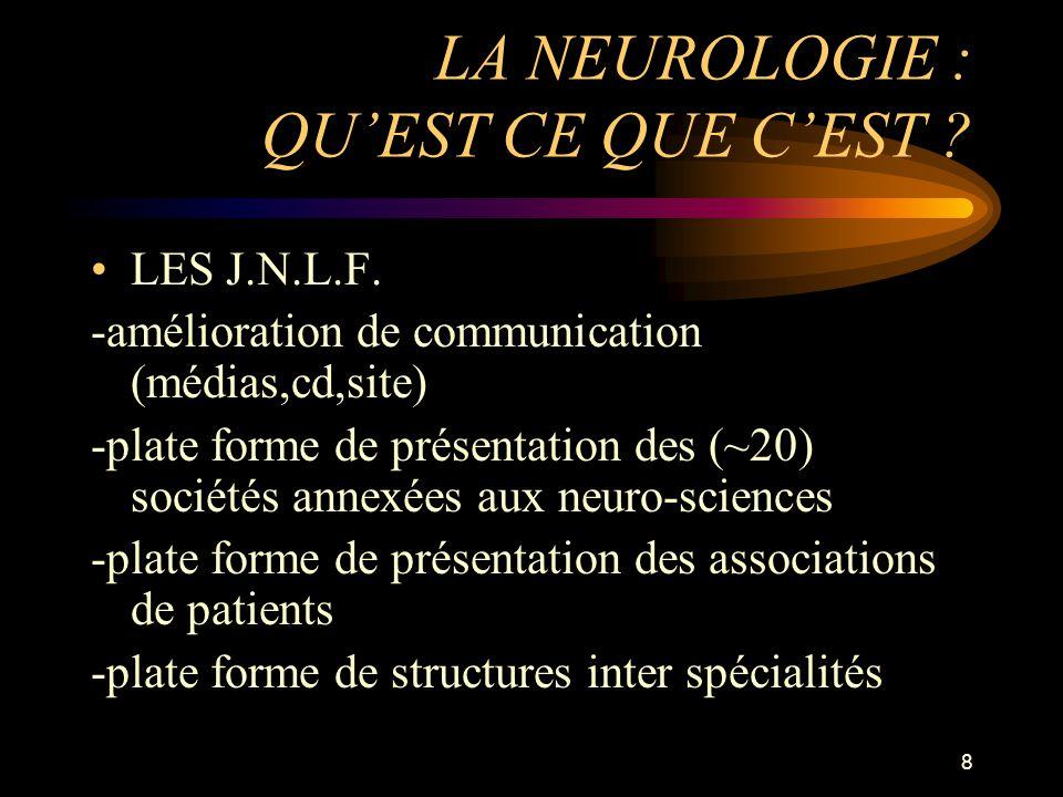 LA NEUROLOGIE : QU'EST CE QUE C'EST