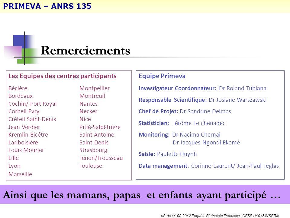 AG du 11-05-2012 Enquête Périnatale Française - CESP U1018 INSERM