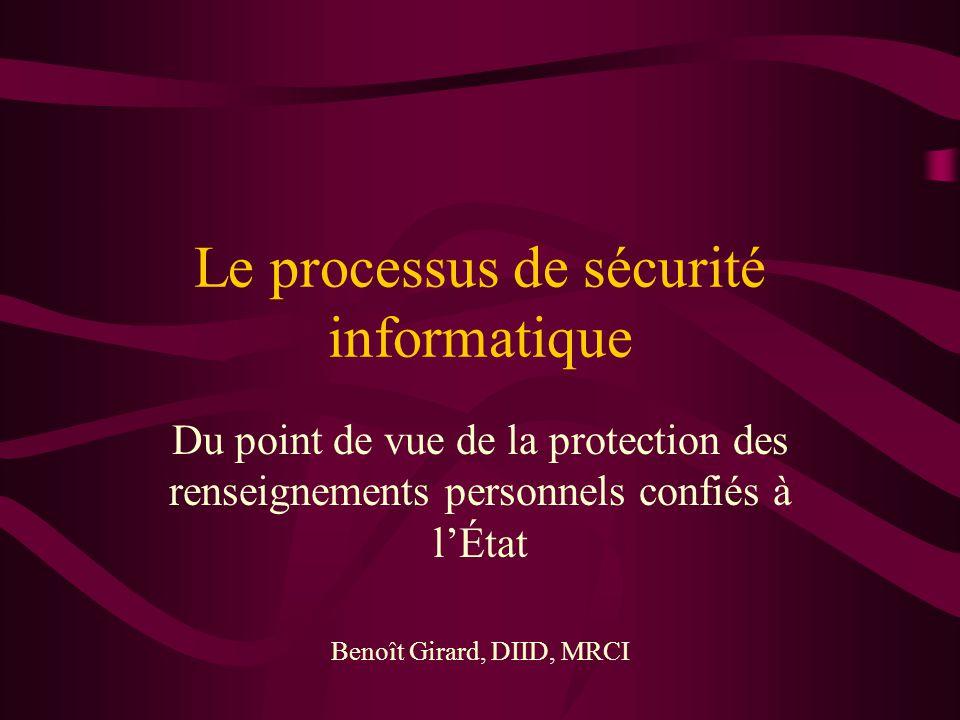 Le processus de sécurité informatique