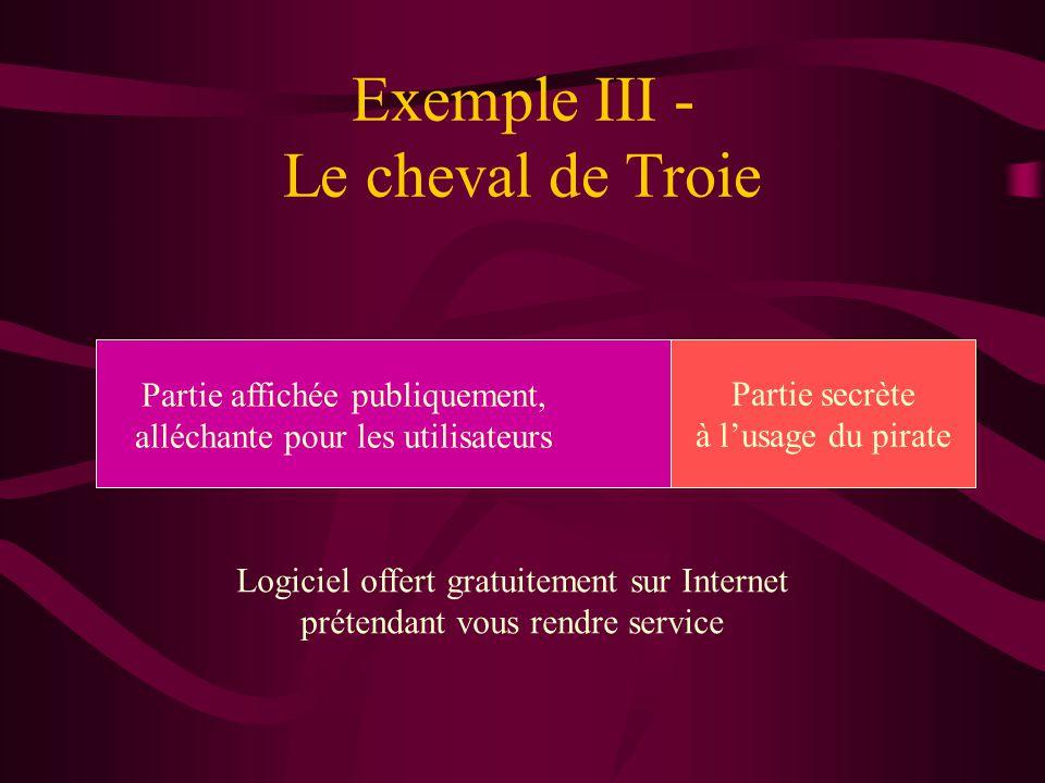 Exemple III - Le cheval de Troie