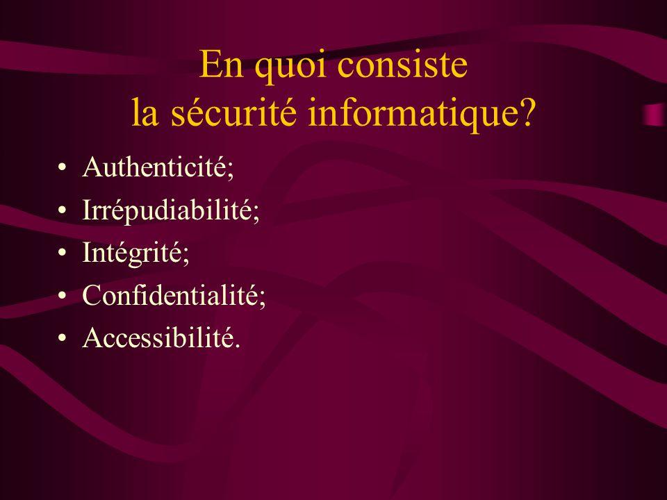 En quoi consiste la sécurité informatique