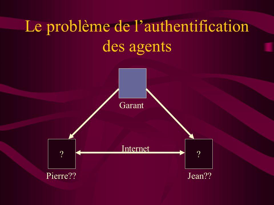 Le problème de l'authentification des agents