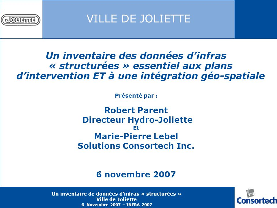 Directeur Hydro-Joliette Solutions Consortech Inc.