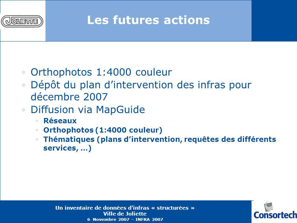 Les futures actions Orthophotos 1:4000 couleur