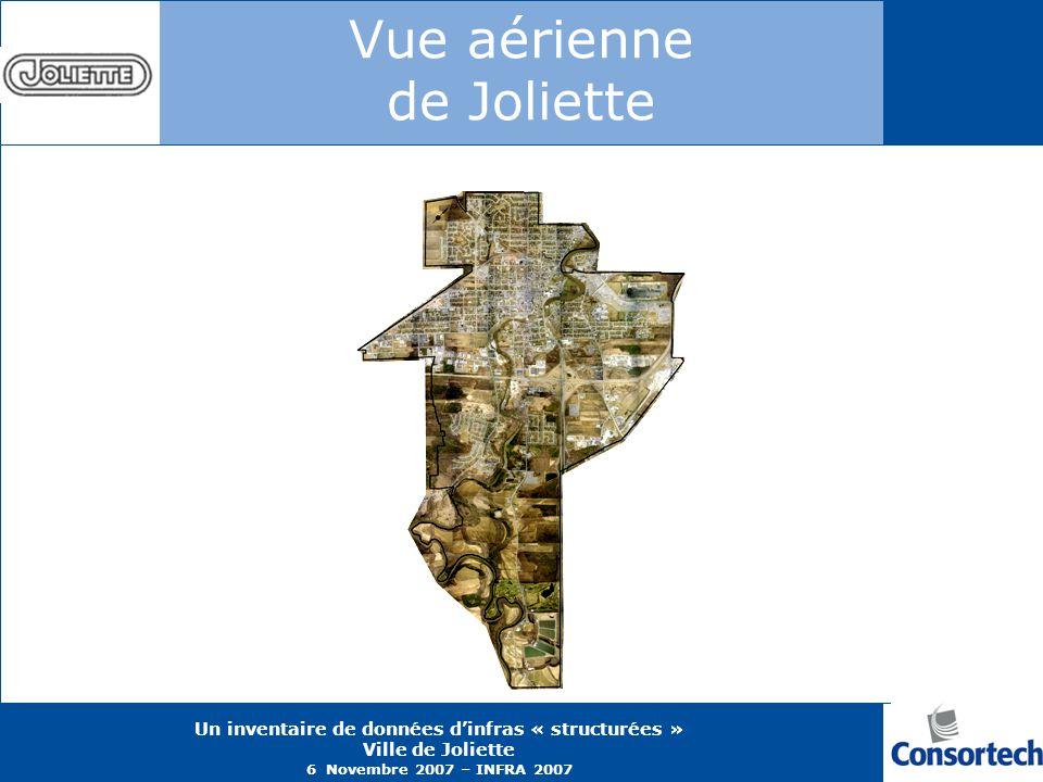 Vue aérienne de Joliette