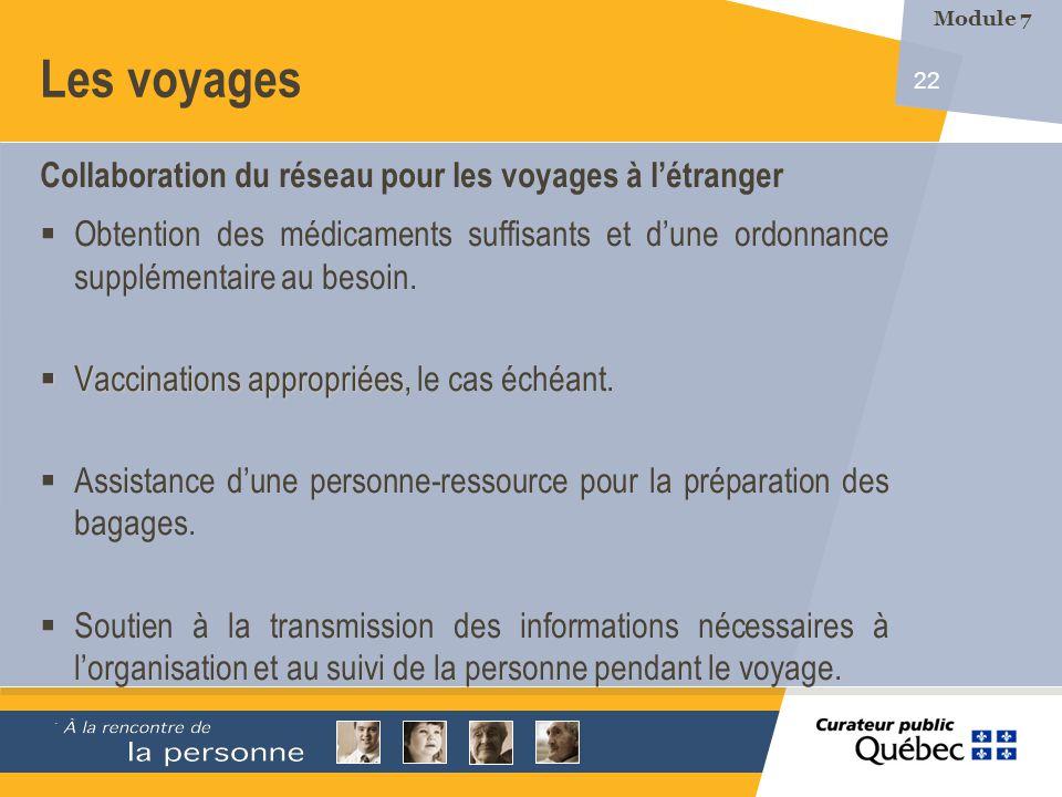 Les voyages Collaboration du réseau pour les voyages à l'étranger