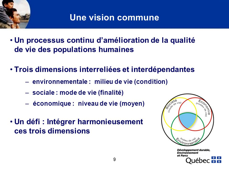 Une vision commune (suite)