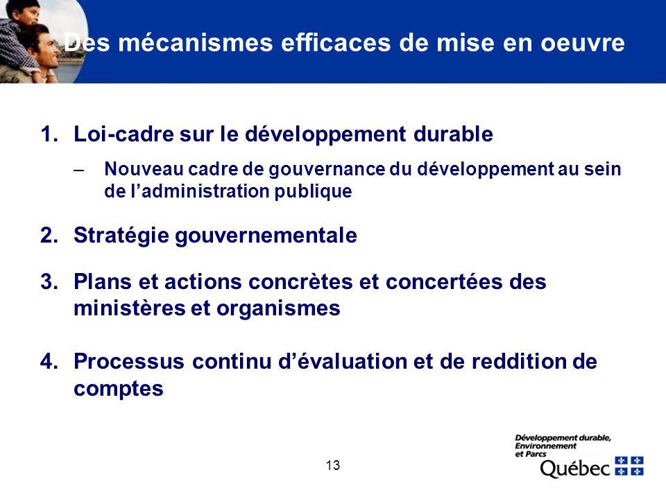 1. Avant-projet de loi sur le développement durable