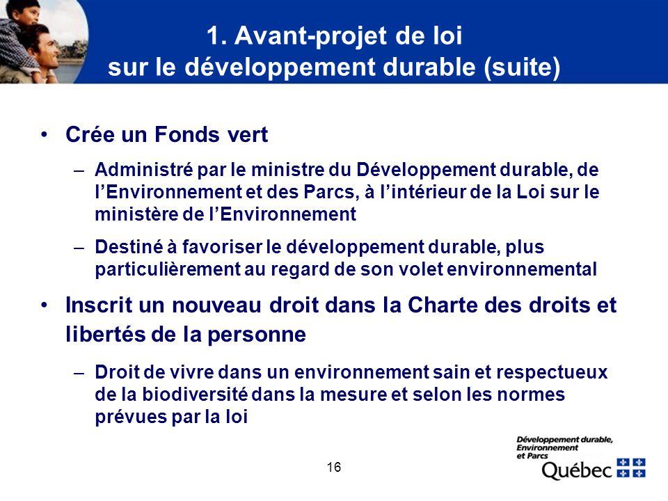 2. Stratégie de développement durable